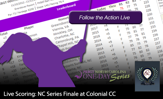 Update: NC Finale at Colonial CC